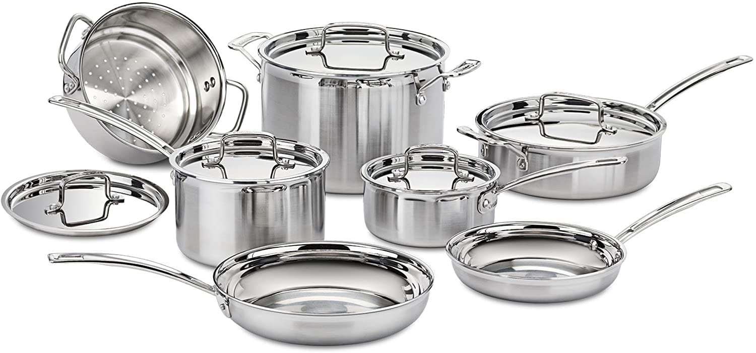 Pots and pans for gas stovetops